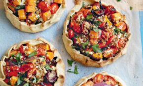 Lentil, roast pumpkin and ricotta open pies | Australian ...