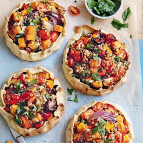 Lentil, Roast Pumpkin And Ricotta Open Pies | Australian ..