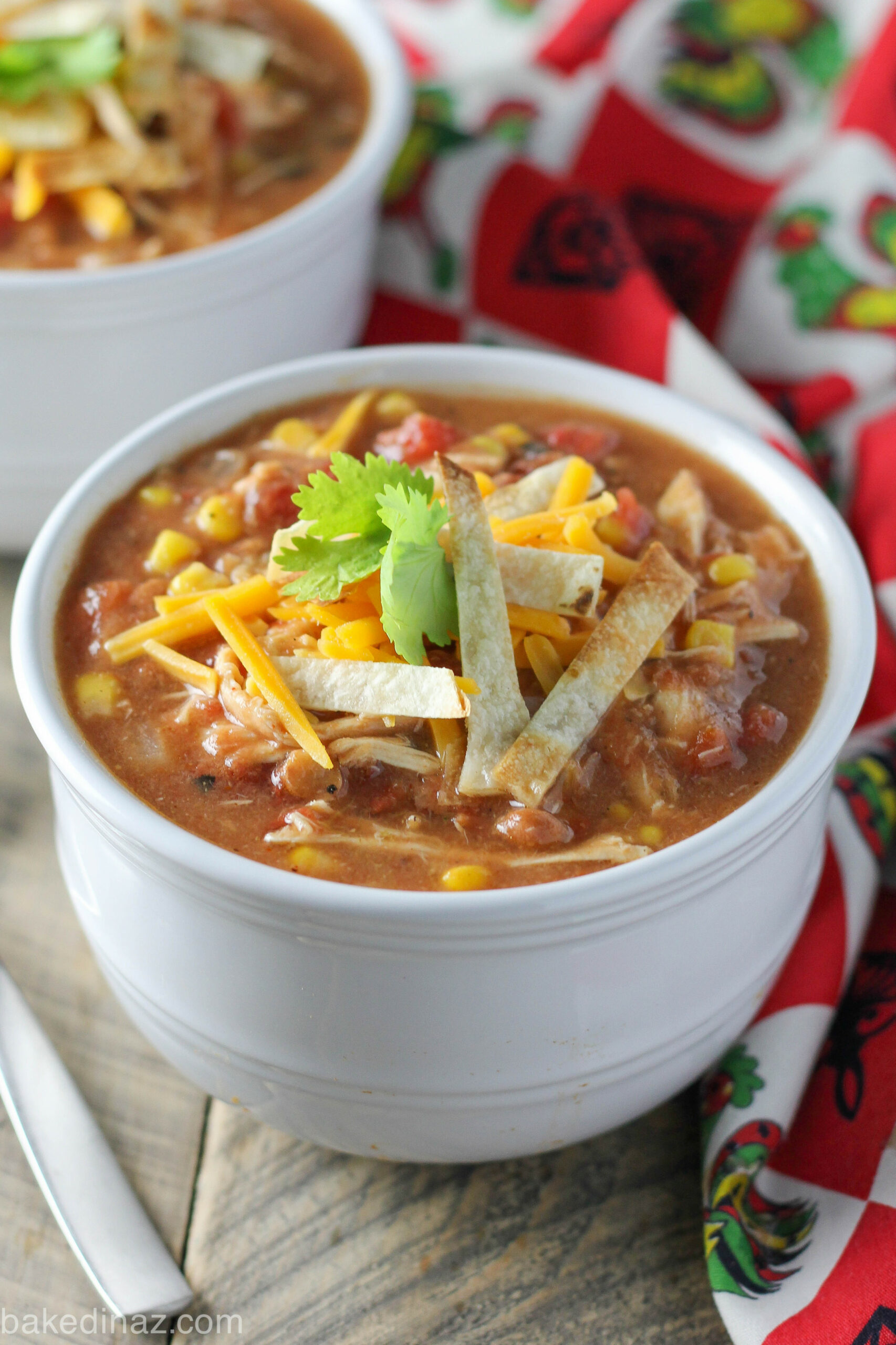 Light Creamy Chicken Tortilla Soup | Baked in AZ - zupas soup recipes chicken tortilla