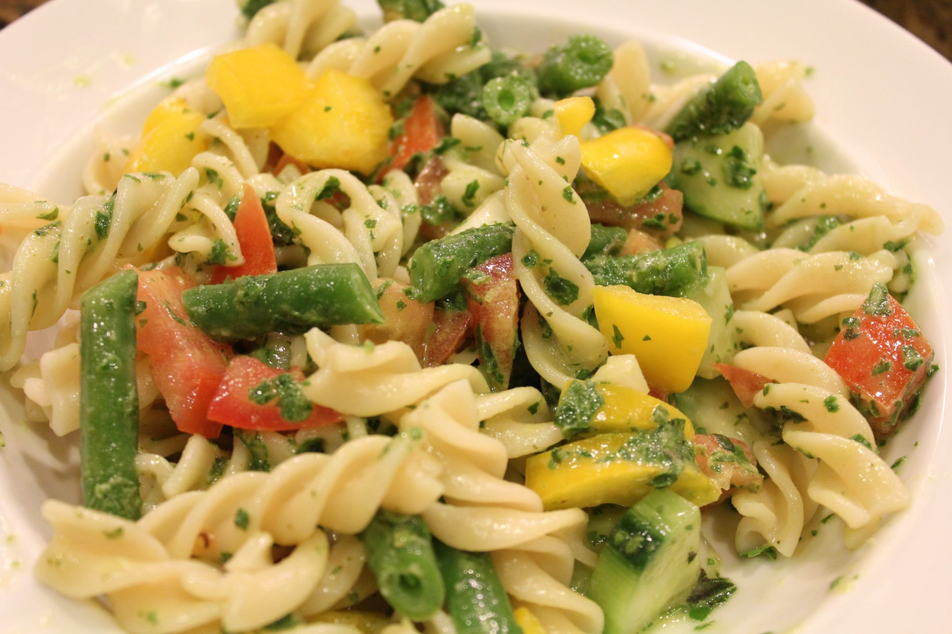 Light, Refreshing Fusilli Pasta Salad • Hip Foodie Mom - fusilli pasta recipes vegetarian
