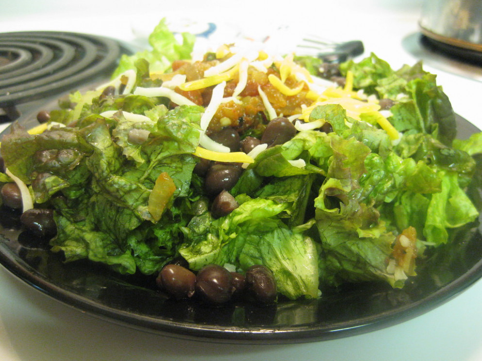 Light & Simple Taco Salad - healthy recipes low carb