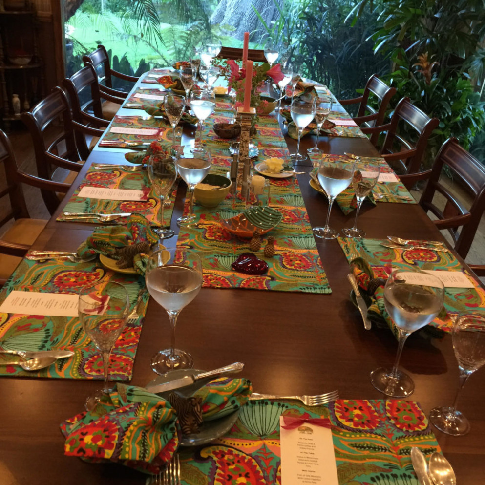 Little Farm Dinner Table with South african Napkin holders ..