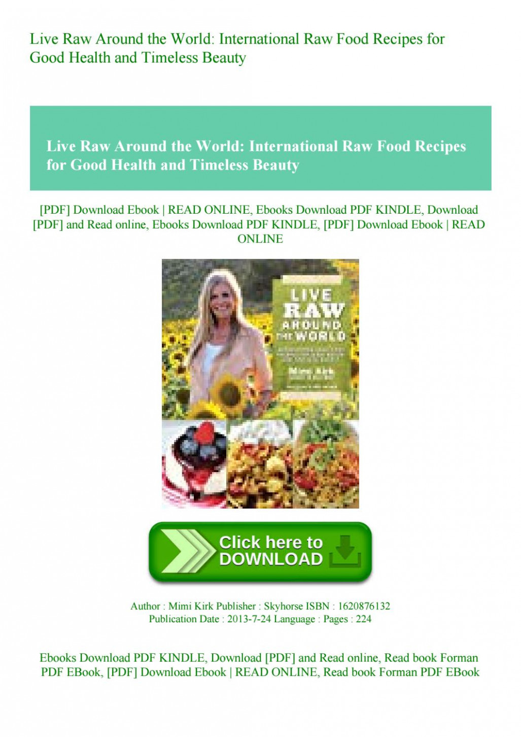 Live Raw Around the World International Raw Food Recipes for ..