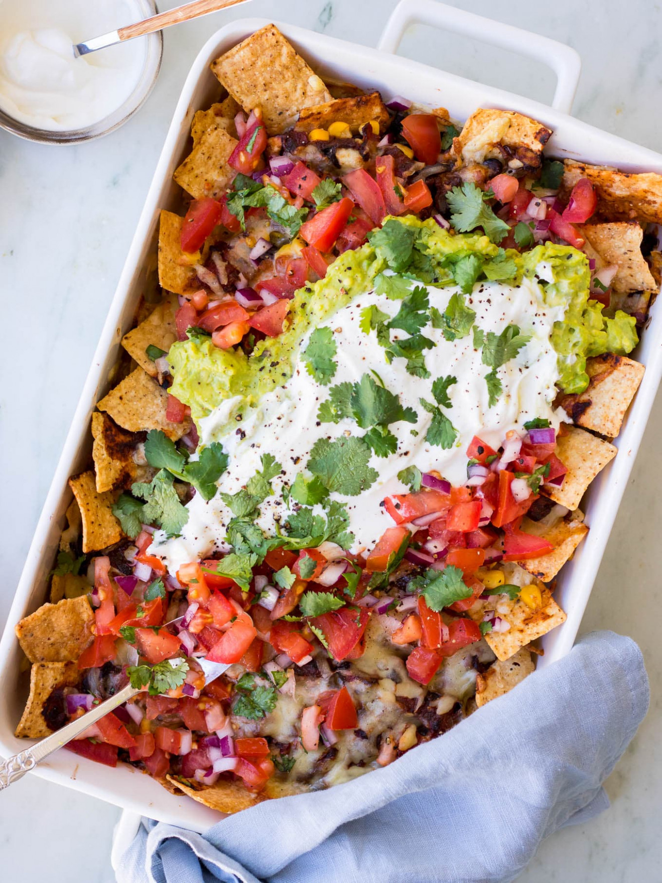 Loaded Vegetarian Mushroom Nachos | Nourish Every Day - nachos recipes vegetarian