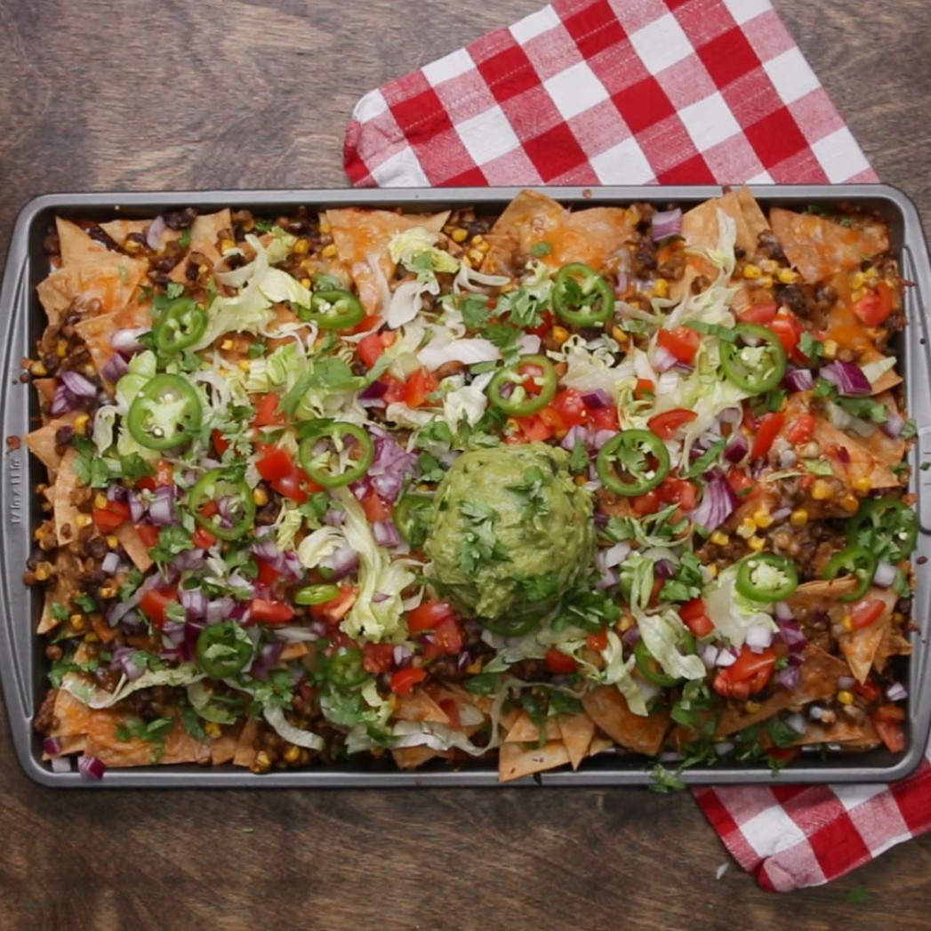 Loaded Vegetarian Nachos Recipe by Tasty - nachos recipes vegetarian