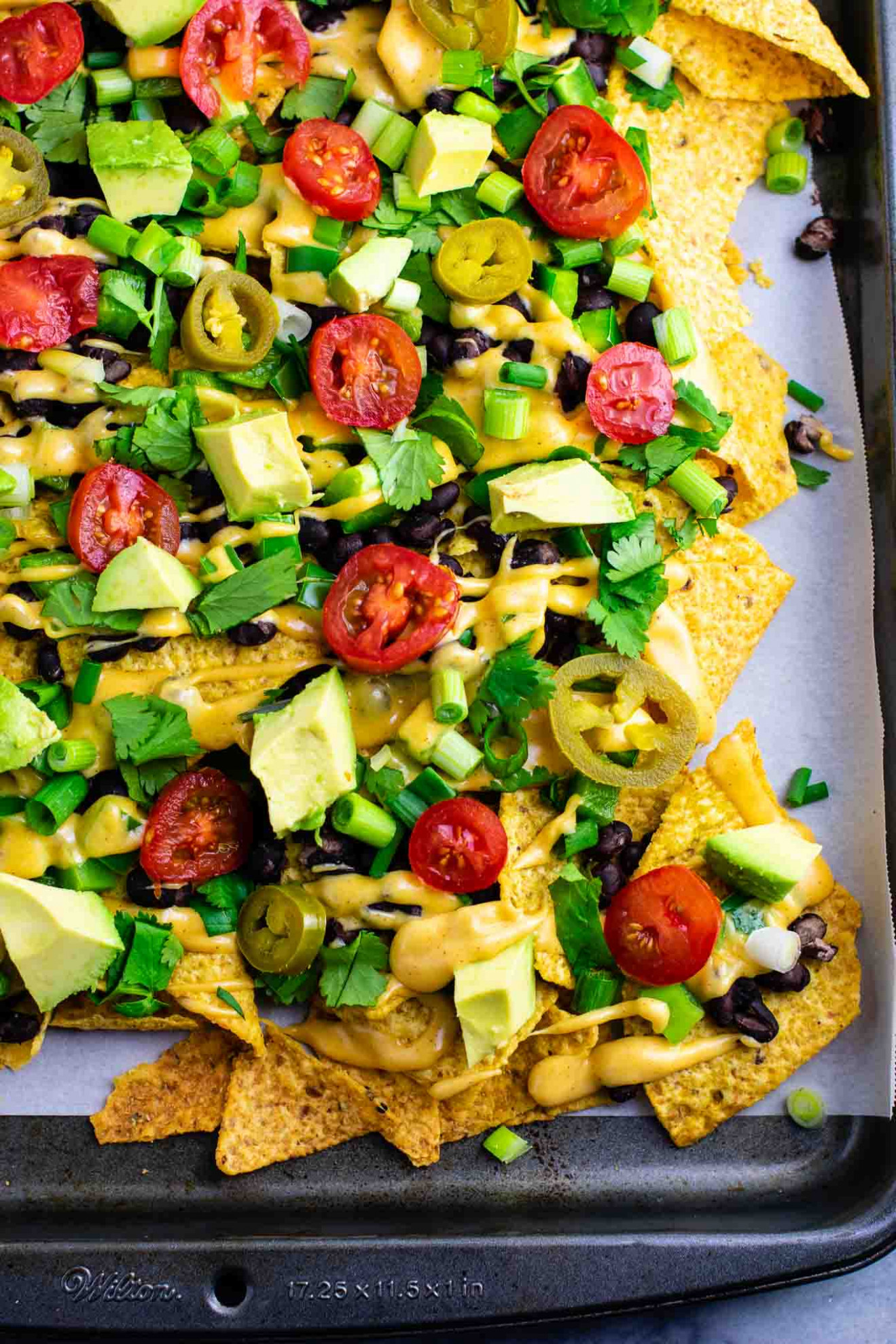 Loaded Veggie Nachos Recipe - Build Your Bite - recipe vegetarian nachos