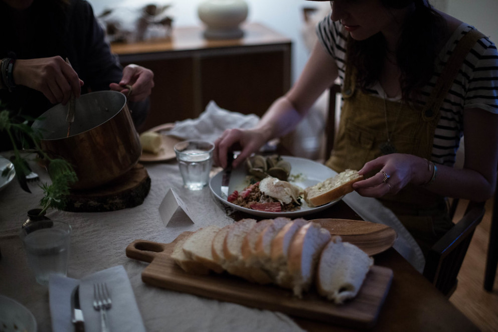 local milk x makr: ash moon dinner - recipes dinner party