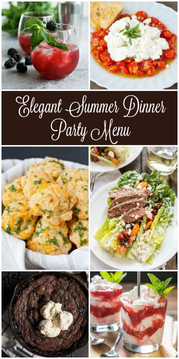 Looking for inspiration for your next summer dinner party ..