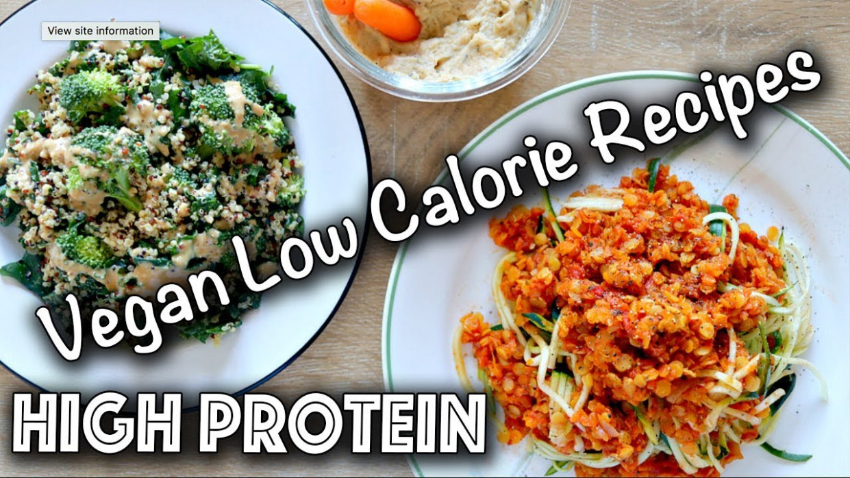LOW CALORIE HIGH PROTEIN VEGAN RECIPES (Gluten-Free too!) - dinner recipes high in protein