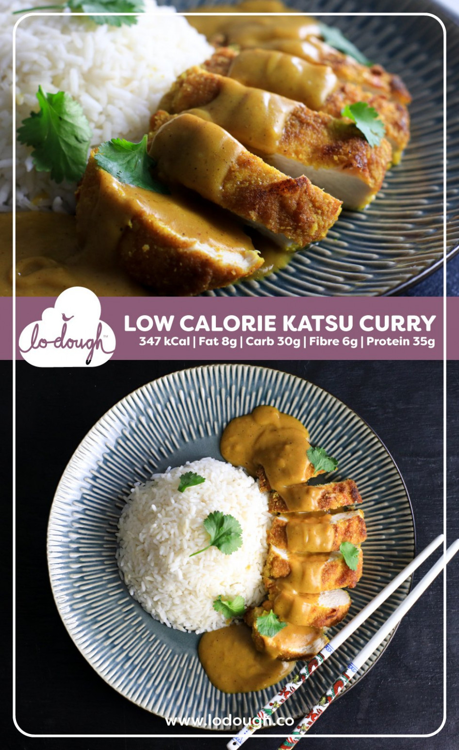 Low-Calorie Katsu Chicken Curry - low fat recipes chicken