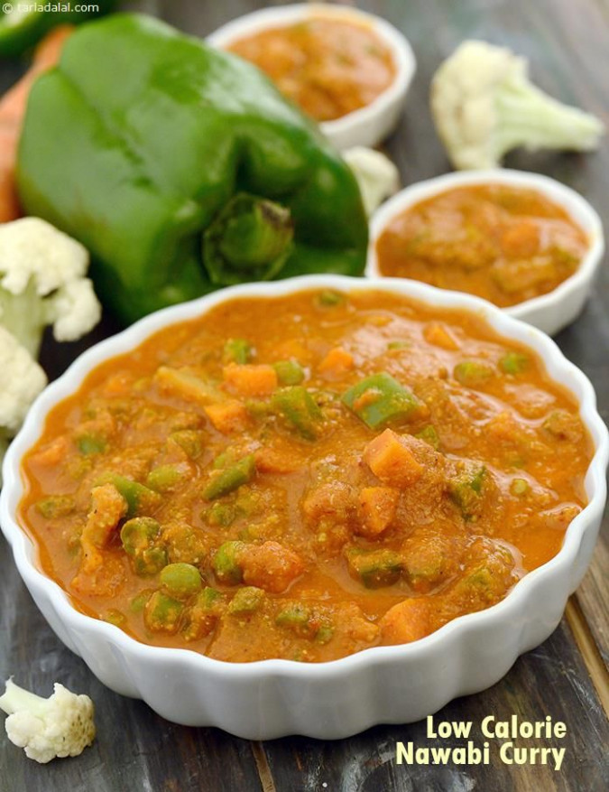 Low Calorie Nawabi Curry | Recipe | veg | Low calorie ..
