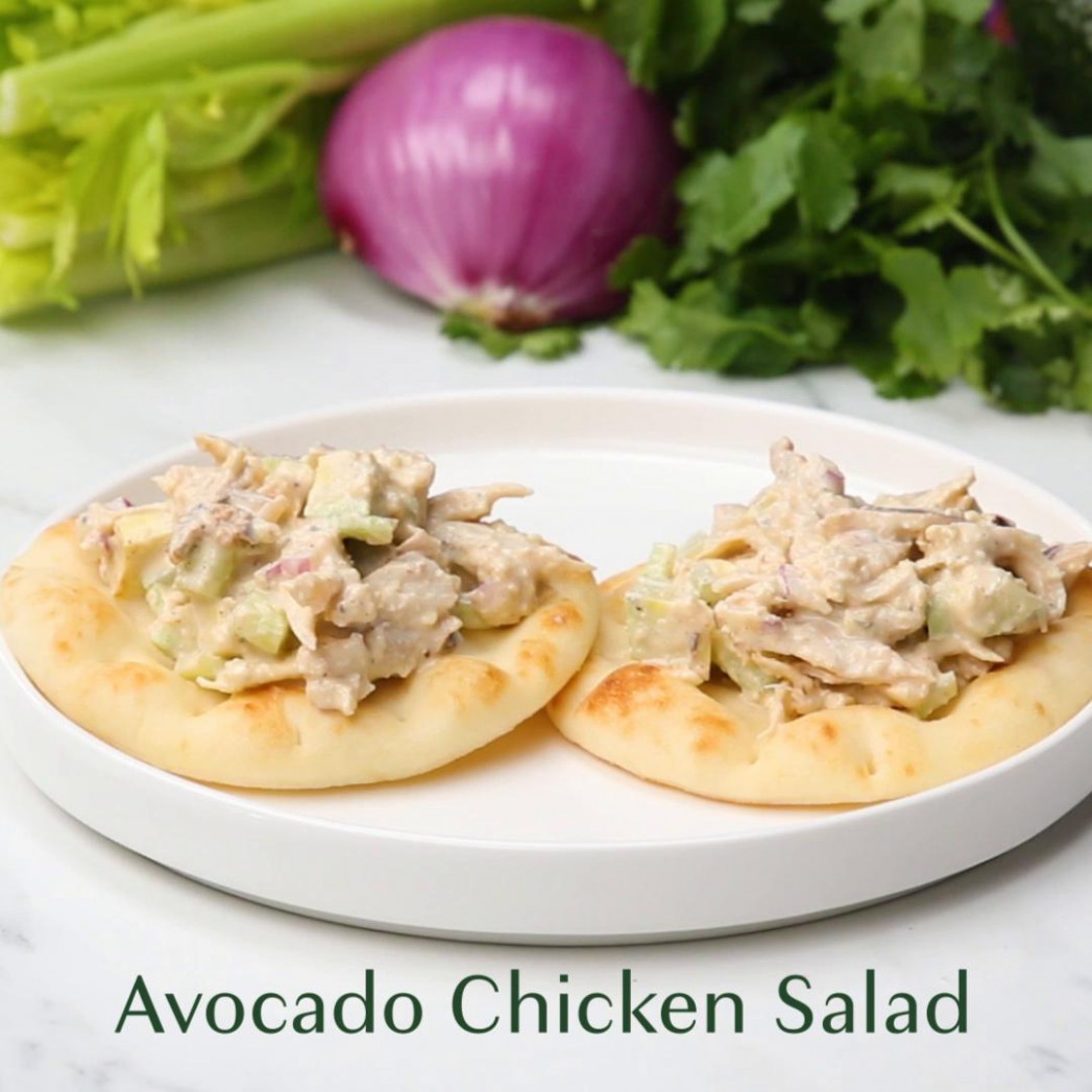 Low-Carb Avocado Chicken Salad Recipe by Tasty - recipes low carb chicken