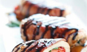 Low Carb Caprese Stuffed Chicken With Balsamic Glaze – Atkins Recipes Chicken