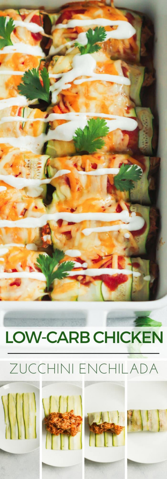 Low-carb Chicken Zucchini Enchilada - chicken zucchini recipes low carb