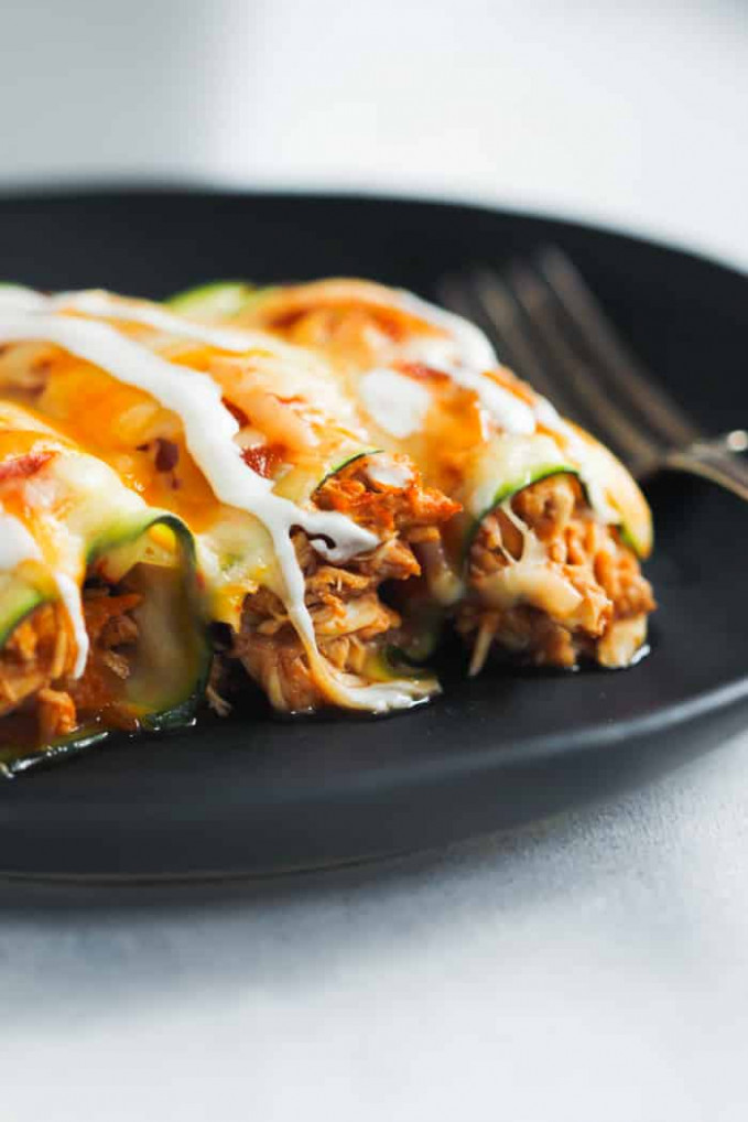 Low Carb Chicken Zucchini Enchilada - Primavera Kitchen - Chicken Recipes Low Carb