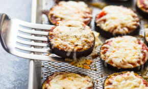 Low Carb Eggplant Pizza Bites – Quick Healthy Eggplant Recipes