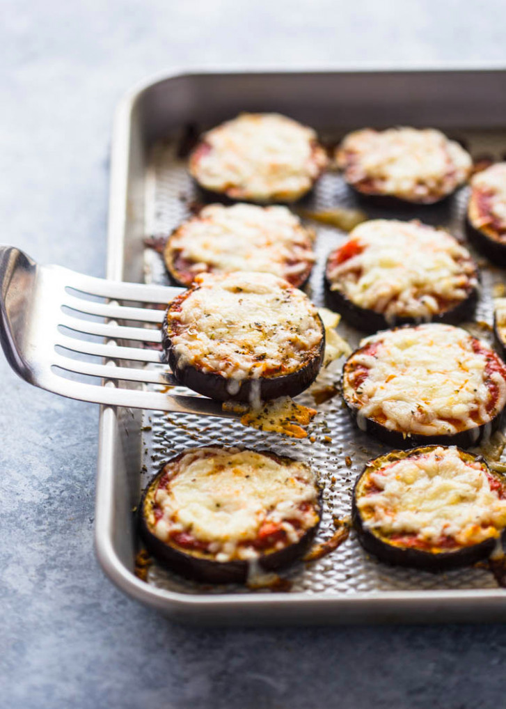 Low-Carb Eggplant Pizza Bites - quick healthy eggplant recipes