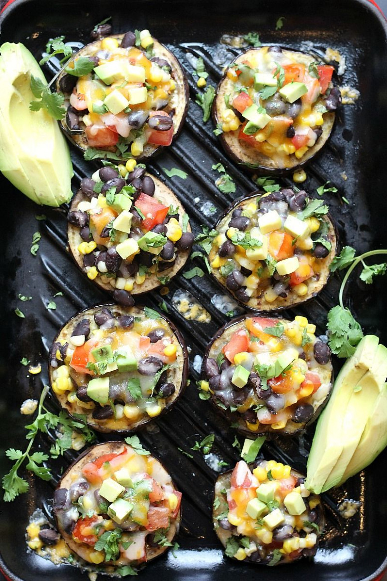 Low Carb Grilled Eggplant Tacos - healthy recipes low fat