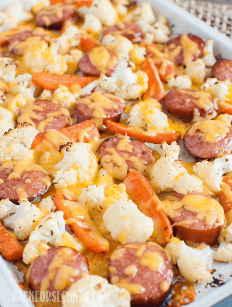 Low Carb Keto Sausage and Veggie Sheet Pan Dinner - Back for ..