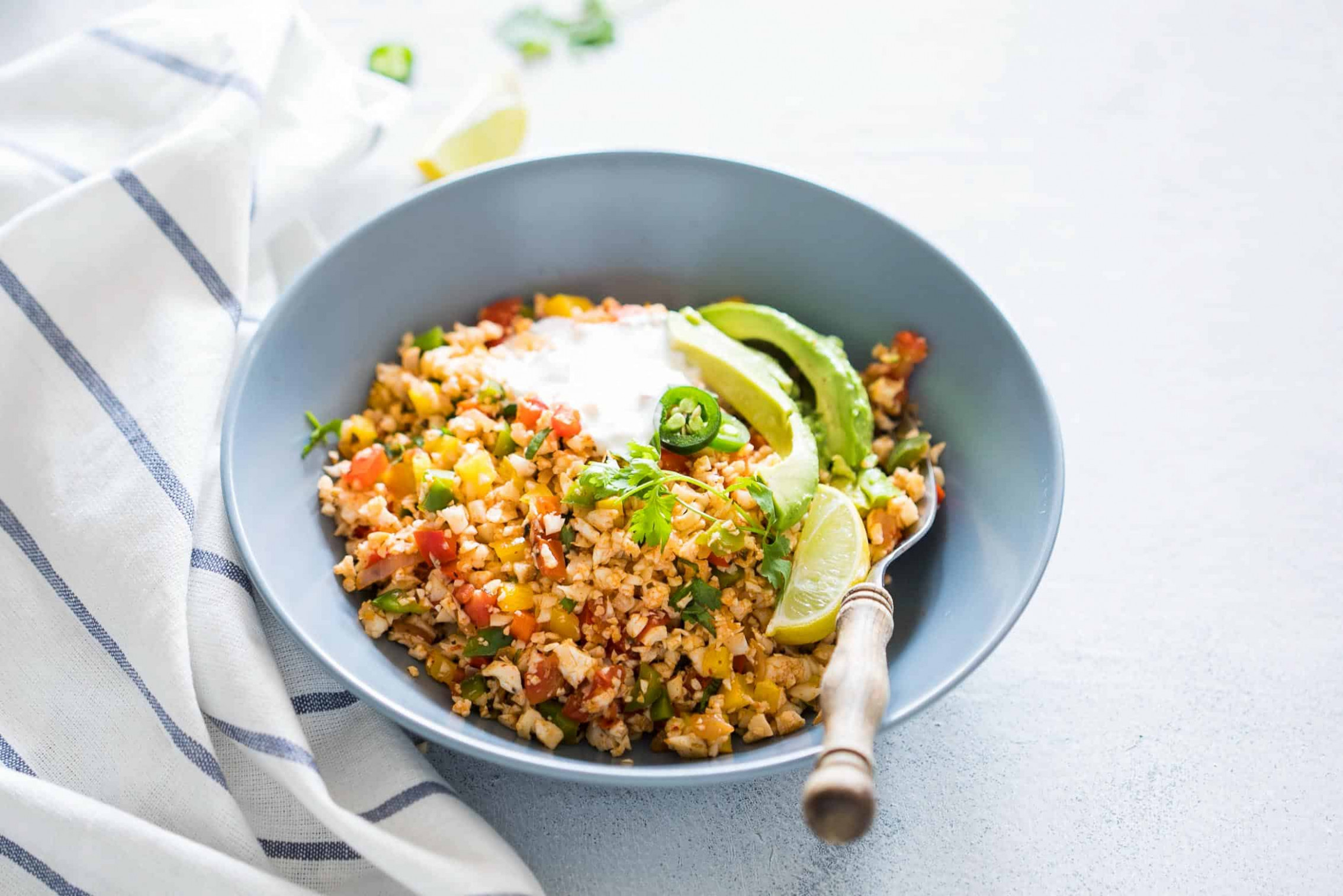 Low Carb Mexican Cauliflower Rice - recipes mexican vegetarian