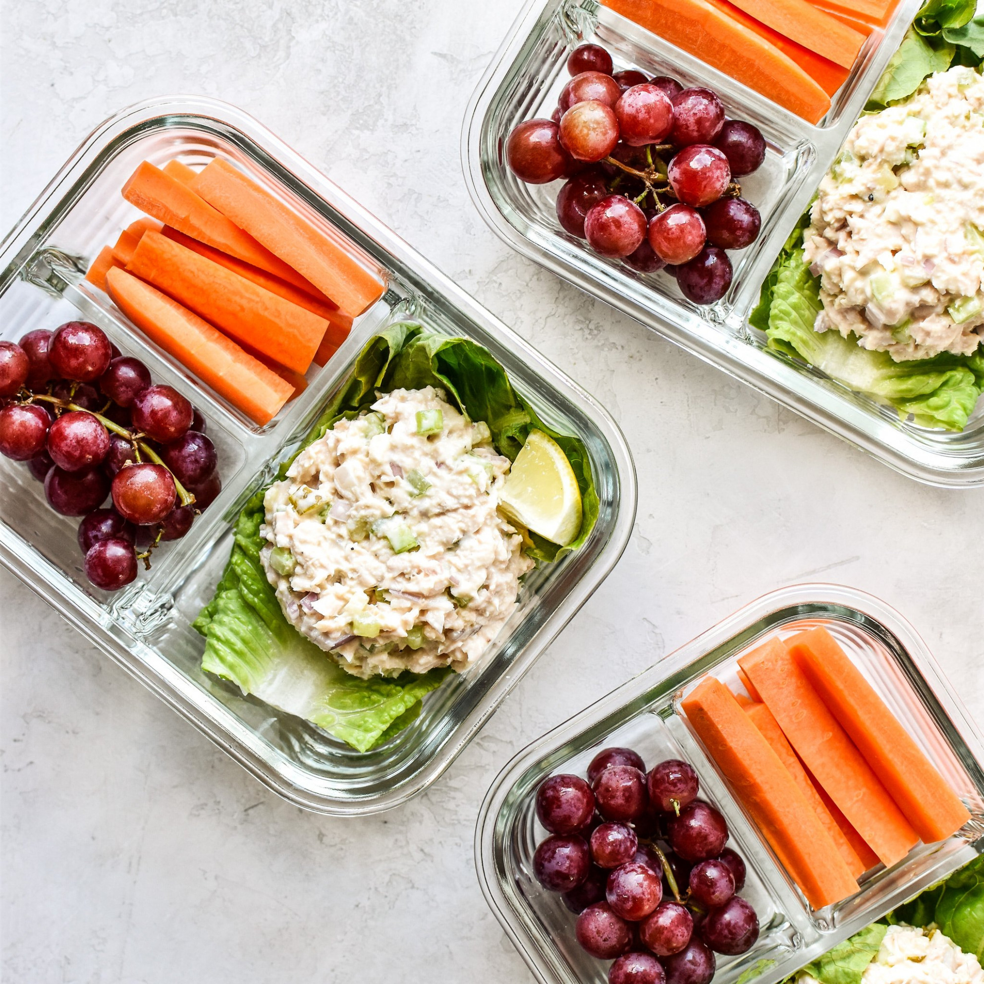 Low Carb Tuna Salad Lettuce Wraps Meal Prep - Project Meal Plan - Recipes No Carbs Dinner