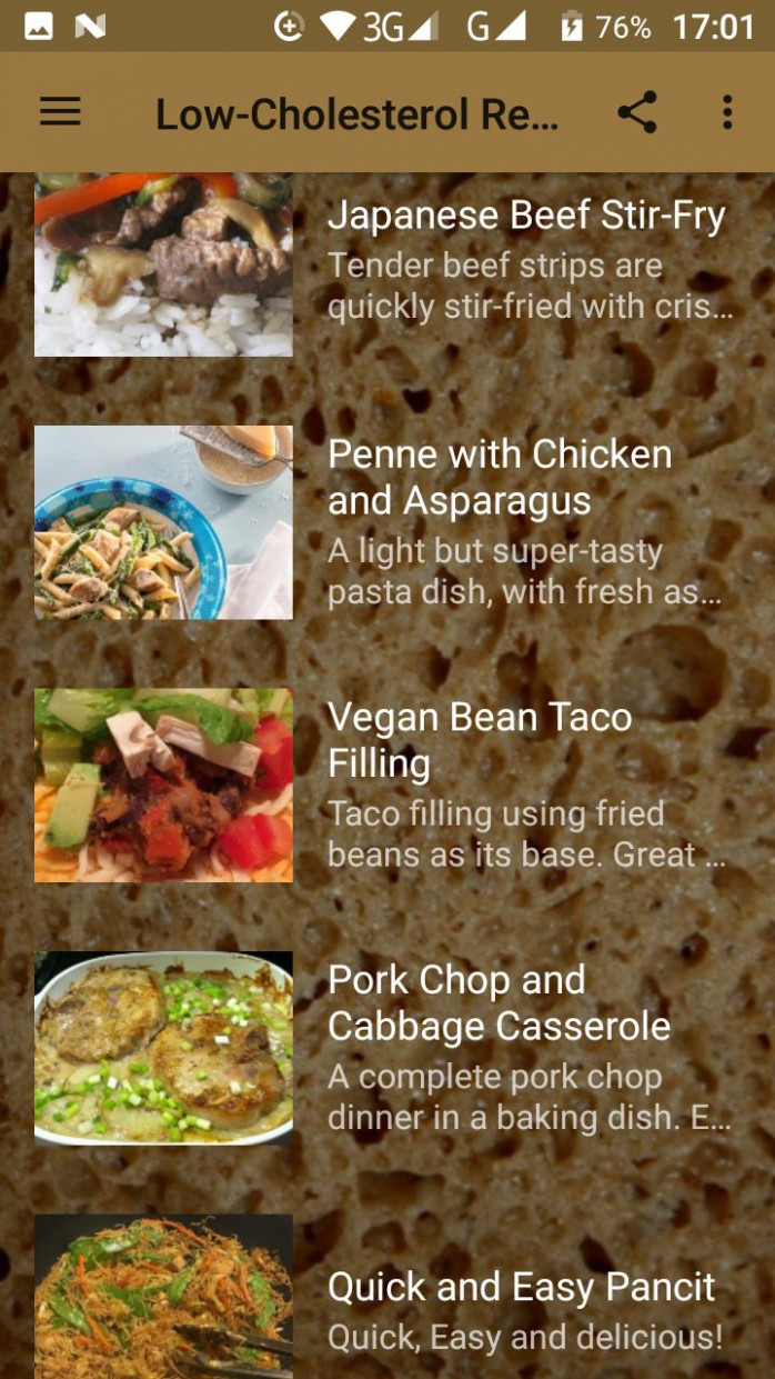 Low-Cholesterol Recipes for Android - APK Download - low cholesterol recipes chicken