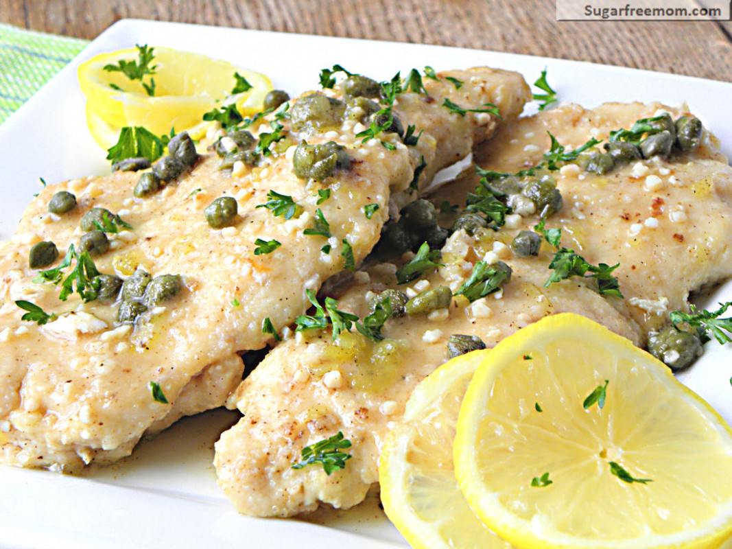 Low Fat Chicken Piccata [Gluten Free] - dinner recipes low fat