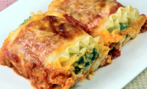 Low-Fat Spinach Lasagna Recipe | SparkRecipes