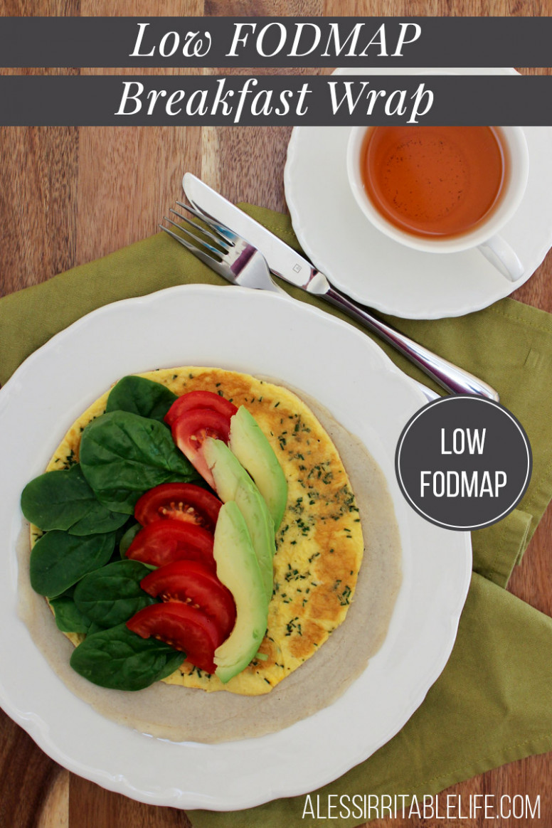 Low FODMAP Breakfast Wrap gluten-free, dairy-free | A Less ..
