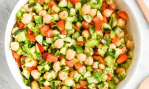 Low FODMAP Middle Eastern Chickpea Salad; Gluten Free, Vegan – Middle Eastern Vegetarian Recipes
