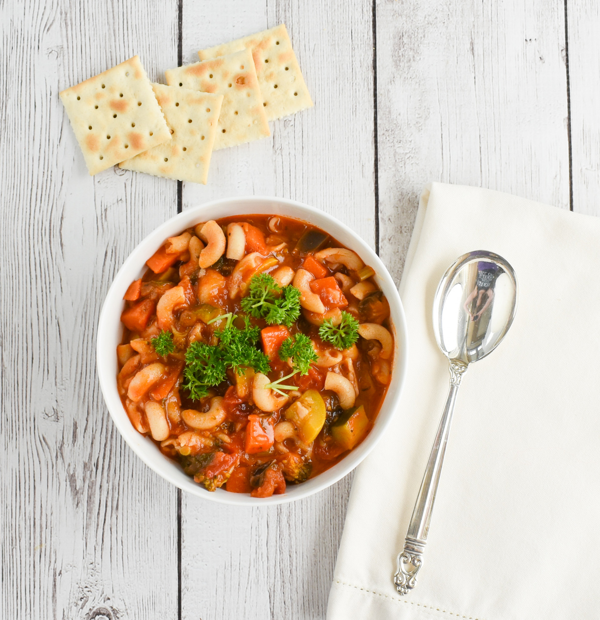 Low-FODMAP Minestrone Vegetable Soup Recipe; Gluten-free ..