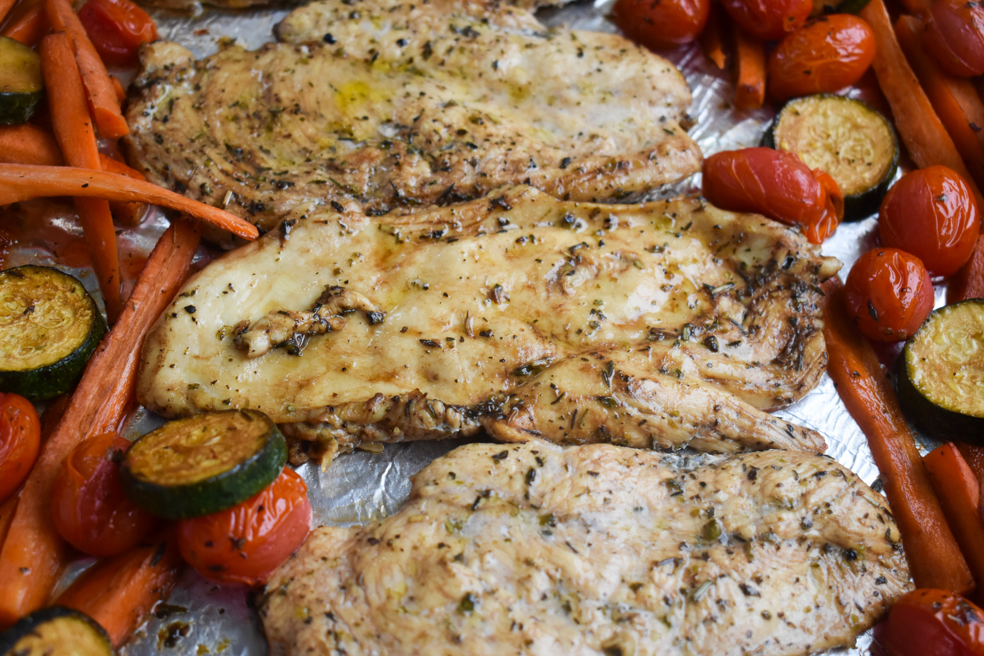Low FODMAP One Pan Italian Chicken And Vegetables; Gluten Free, Dairy Free - Low Fodmap Recipes Dinner