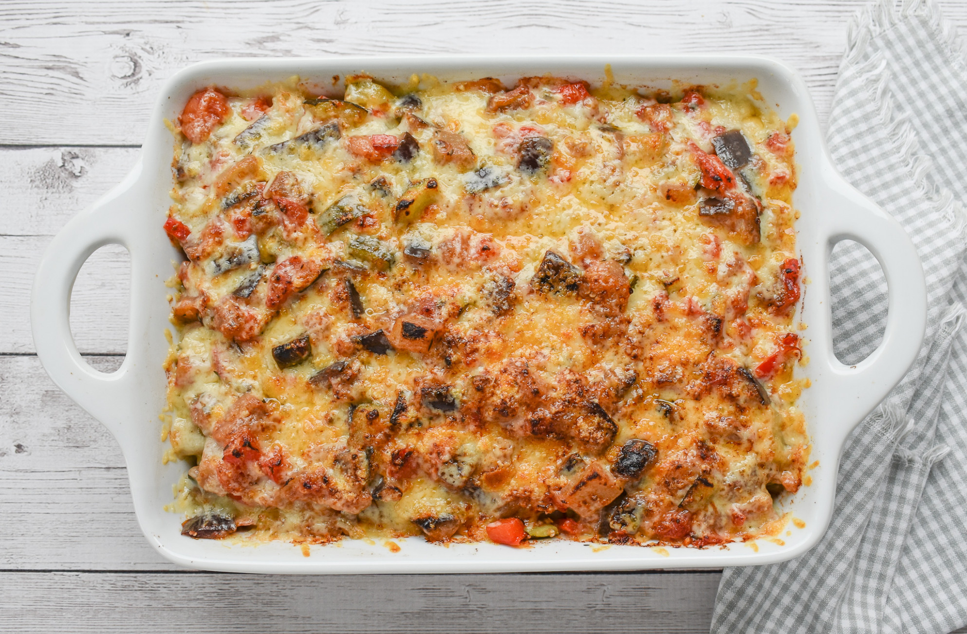 Low-FODMAP Ratatouille Garlic Bread Casserole, Gluten-free - fodmap recipes vegetarian