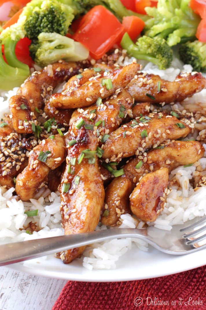 Low-FODMAP Sesame Chicken - Delicious as it Looks - low fodmap recipes chicken