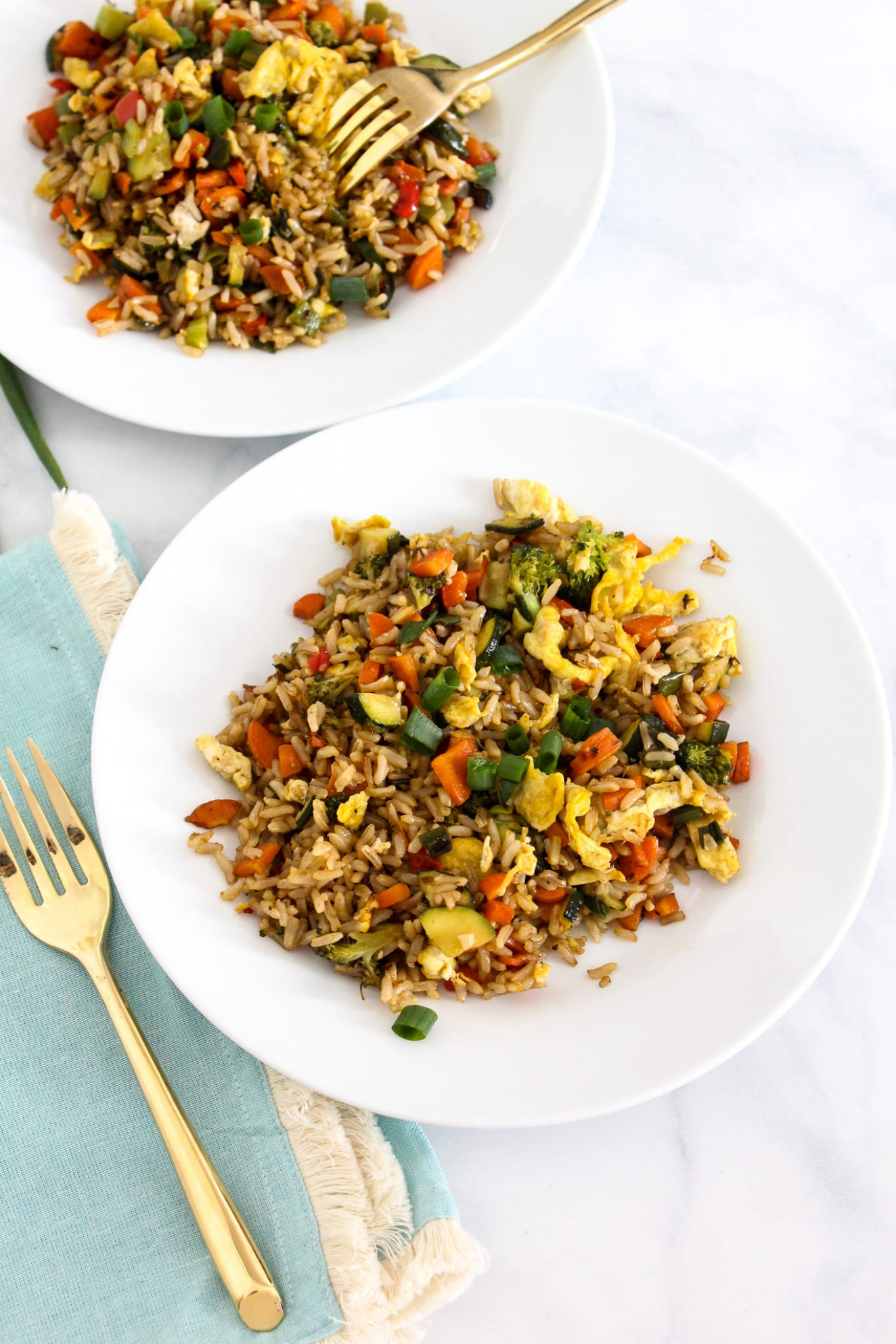 Low FODMAP Vegetable Fried Rice - fodmap recipes vegetarian
