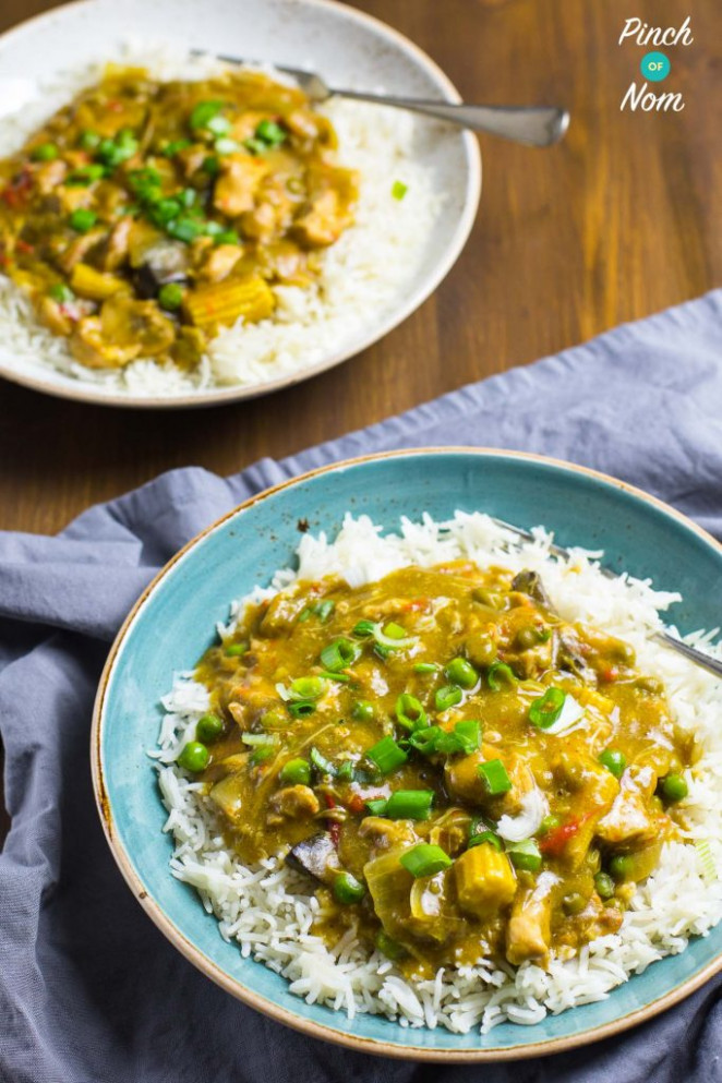 Low Syn Chinese Chicken Curry | Slimming World - Pinch Of Nom - chicken recipes slimming world