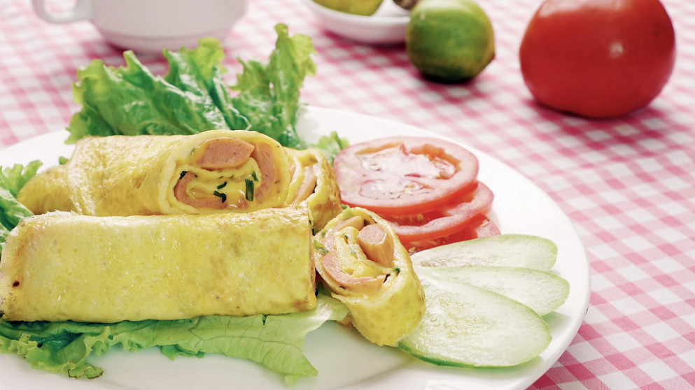 Lowcarb Breakfast With Cheese Egg Roll - Dinner Recipes Diet
