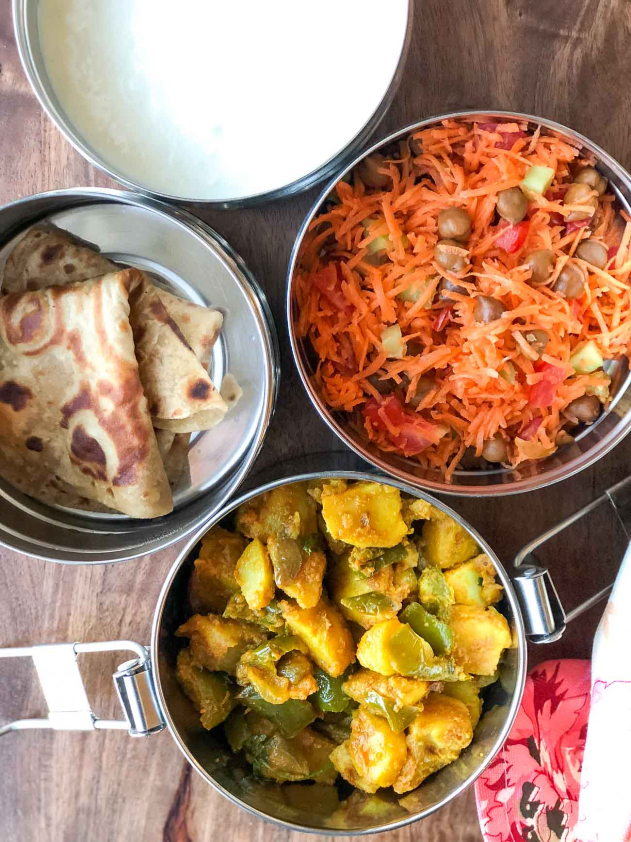 Lunch Box Recipes: Aloo Simla Mirch Sabzi, Kala Chana Salad ..