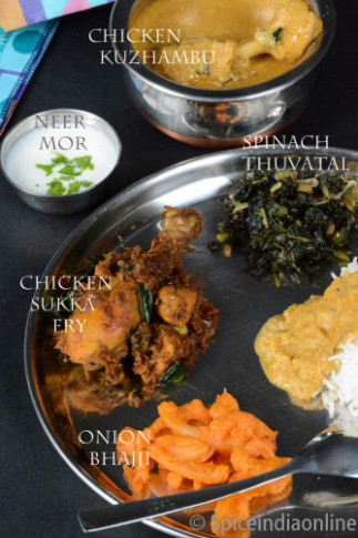 Lunch / Dinner Menu 10 – South Indian Non Vegetarian Lunch ..