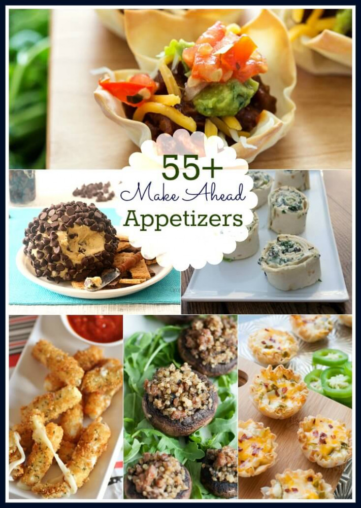 Make Ahead Appetizers Roundup - make ahead dinner recipes for company