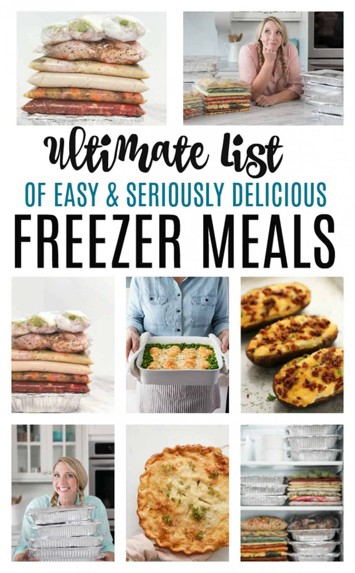 Make Ahead Freezer Meals for a month - chicken recipes you can freeze