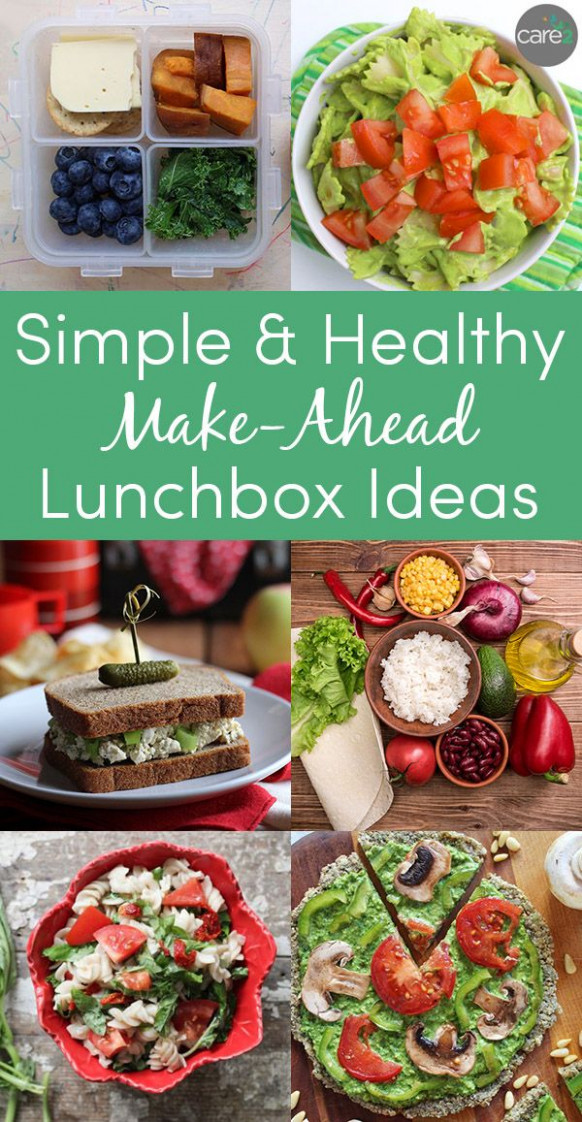 Make-ahead lunches that you can pack the night before or ..