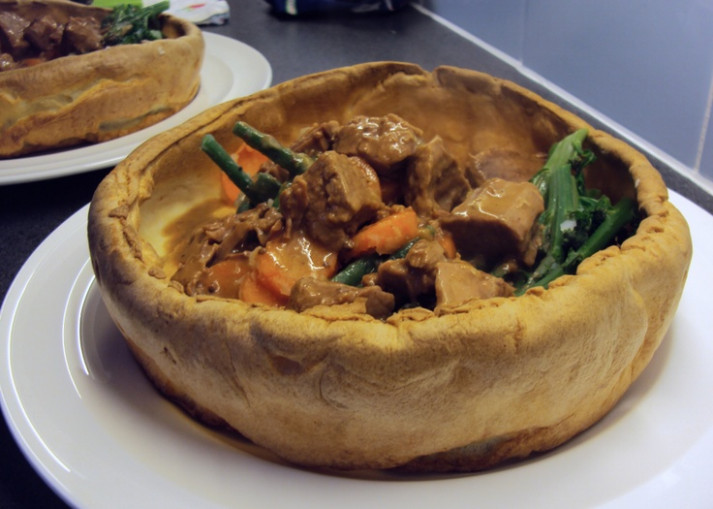 Make giant yorkshire pudding bowls for stews and soups ..