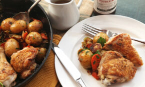 Make This Crisp Skinned Chicken And Roast Vegetables In One ..