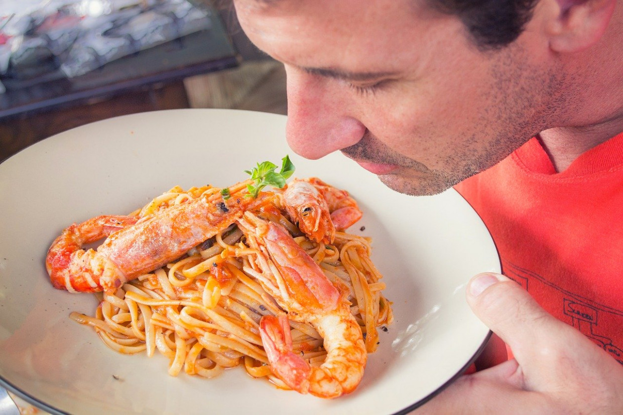 Man, Savoury, Pasta, Smelling, Food - healthy italian recipes