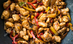 Manchurian Chicken With Soy Sauce, Julienne Vegetables In ..