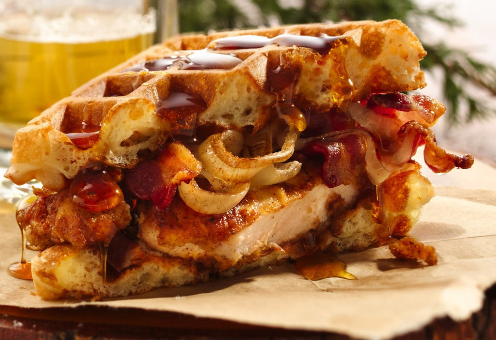 Mantastic Fried Chicken 'n' Waffle Sandwich Recipe - Recipes Baked Chicken Breast