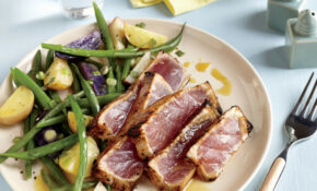 Maple and Mustard Seared Tuna Steaks Recipe | MyRecipes