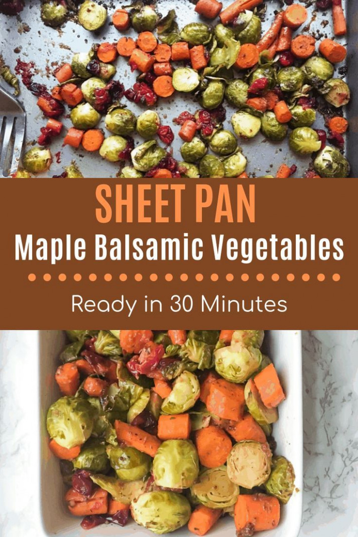 Maple Balsamic Roasted Vegetables - healthy recipes roasted vegetables