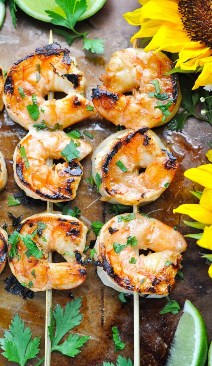 Marinated Grilled Shrimp - The Seasoned Mom - dinner recipes grill
